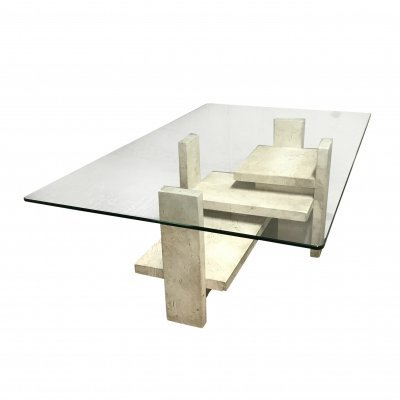 Vintage coffee table by Willy Ballez, 1970s