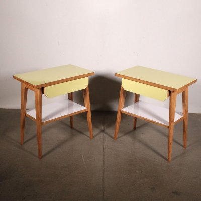 Pair of bedside tables, 1950s