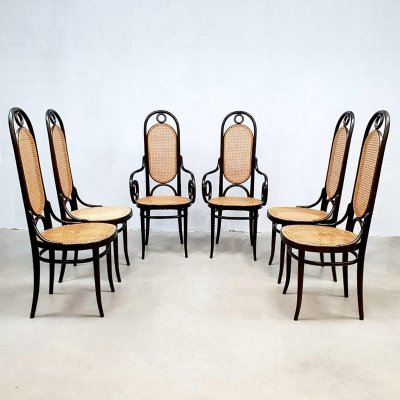 Set of 6 vintage design 'model 207R' dining chairs by Thonet, 1970s