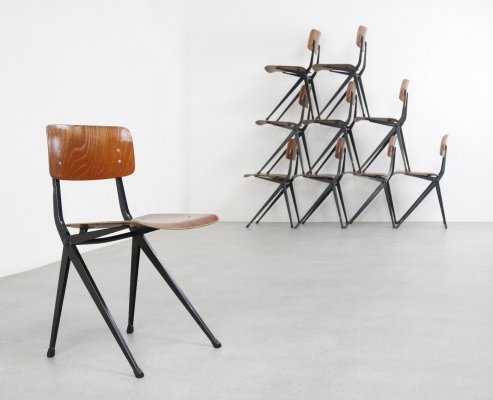 10 x dining chair by Ynske Kooistra for Marko Holland, 1960s