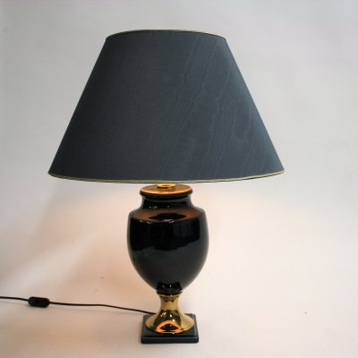 Vintage ceramic table lamp by Bosa, Italy 1980s