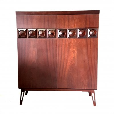 Brutalist highboard with hairpin legs, 1970s