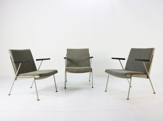 Set of 3 Oase arm chairs by Wim Rietveld for Ahrend de Cirkel, 1950s