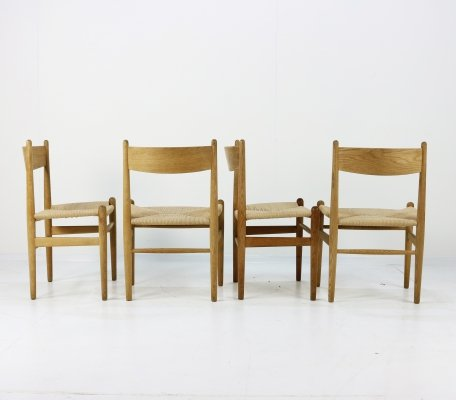 Set of 4 CH36 dining chairs by Hans Wegner for Carl Hansen & Son, 1960s