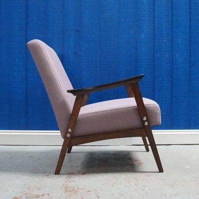 Mid Century Modern Easy Chair in Purple, 1960's