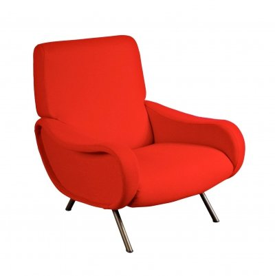 First Edition 'Lady' Easy Chair by Marco Zanuso for Arflex, Italy circa 1950