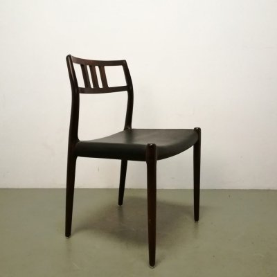 Set of 4 Model 79 dining chairs by Niels O. Møller for JL Møller Møbelfabrik, 1950s