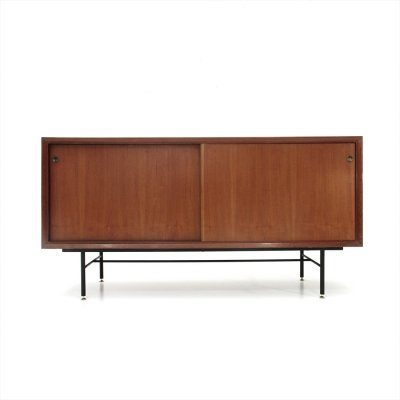 Italian mid-century sideboard with black glass top, 1960s