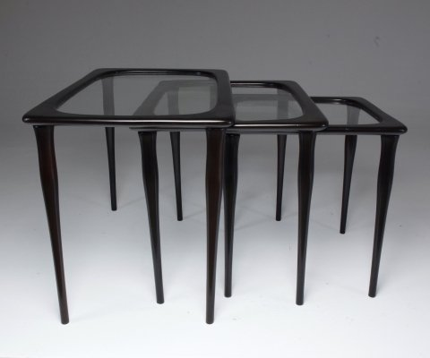 Italian Mid-Century Nesting Tables by Ico Parisi, 1950's