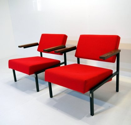 Pair of 'sz37/sz64' chairs by Martin Visser for 't Spectrum, 1960-1965