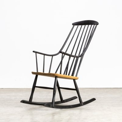 60s Lena Larsson 'Grandessa' rocking chair for Nesto
