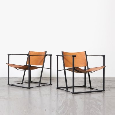Radboud van Beekum Pair of FM61 Cubic Chairs for Pastoe, 1980