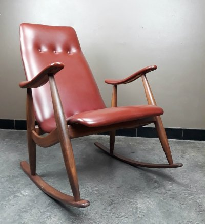 Rocking Chair by Louis Van Teeffelen for Webe, 1960s