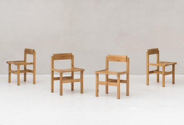 4 dining chairs by Edvin Helseth for Stange Bruk, Denmark 1960