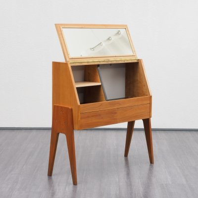 Midcentury Ashwood Dressing Table With Compass Feet