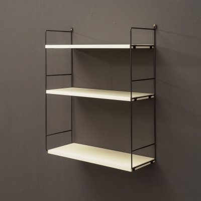 Midcentury WHB wall shelf with metal ladders, Germany 1960s