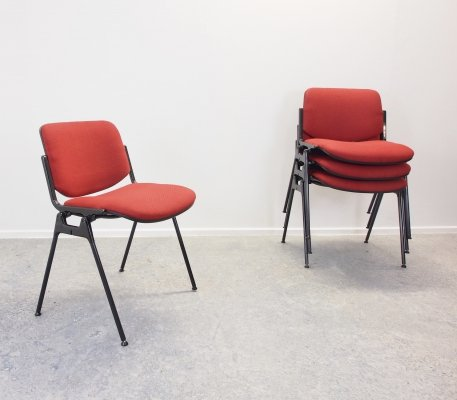 Set of 4 DSC 106 chairs by Giancarlo Piretti for Castelli, 1980s
