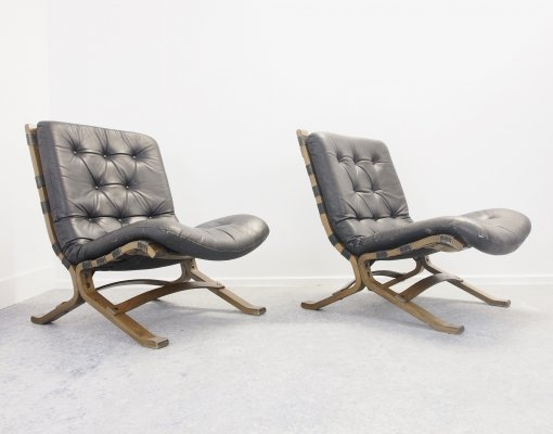 Pair of Scandinavian 'Siesta' lounge chairs by Ingmar Relling for Westnofa