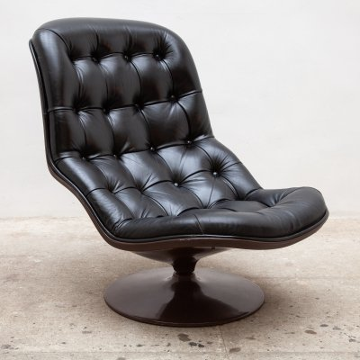 Spage Age Leather Lounger by Georges van Rijck for Beaufort, 1970s