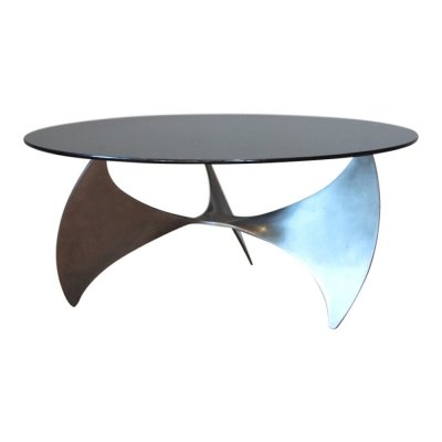 Vintage 'Propeller' coffee table by Knut Hesterberg by Ronald Schmitt, 1960s