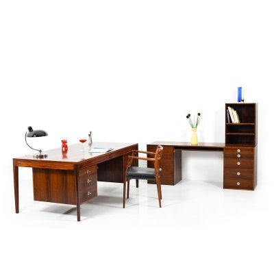 Early Finn Juhl 'Diplomat Series' Rosewood Desk & Modular Sideboard