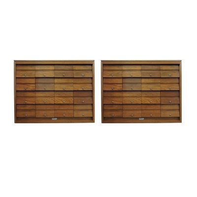 Pair of Oak Mid-Century Filing Cabinets for Serota London