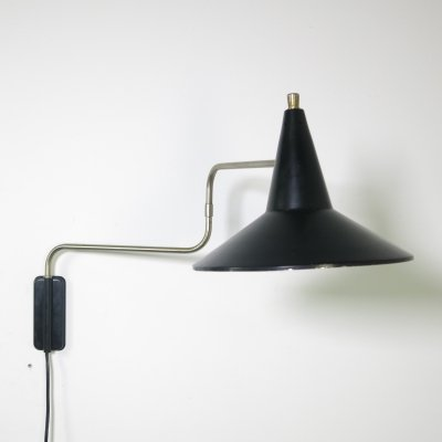Elbow wall lamp by J. Hoogervorst for Anvia Almelo, 1960's