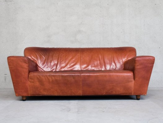 Montis Corvette Sofa by Gerard van den Berg in Cognac Leather