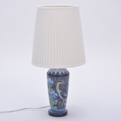 Handmade Swedish Ceramic Lamp by Alingsås Ceramic, 1960s
