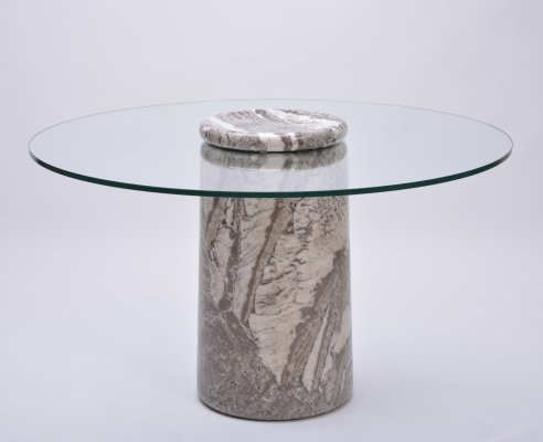 Rare Angelo Mangiarotti Marble Dining Table Model Castore, 1975