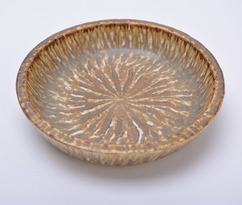 Mid-Century Swedish Stoneware Bowl by Gunnar Nylun