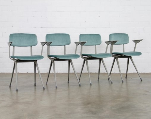 Set of 4 Revolt dining chairs by Friso Kramer for Ahrend de Cirkel, 1970s