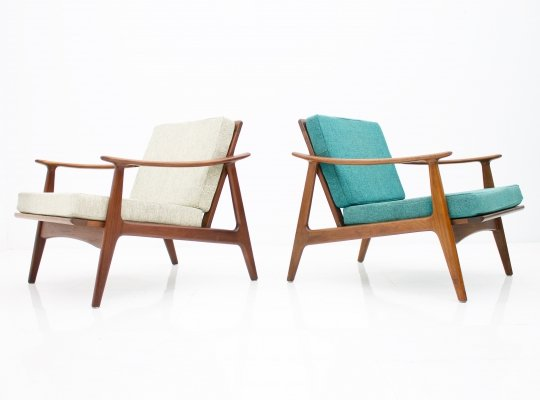 Pair of Danish Teak easy Chairs, 1960s