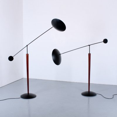 Pair of counter balance floor lights by Herda