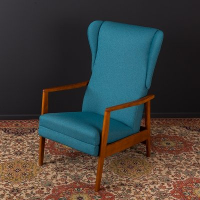 German armchair with footrest, 1950s