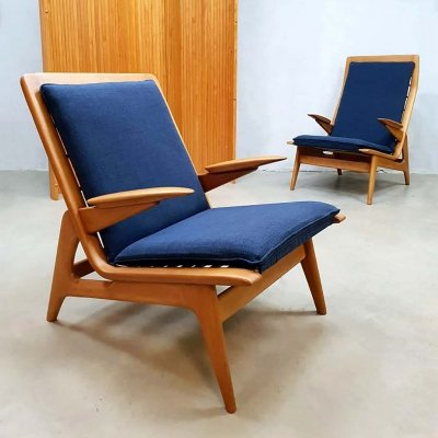 Pair of Midcentury modern easy chairs by De Ster Gelderland, 1960s