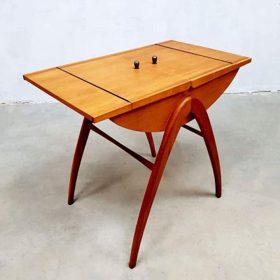 Vintage Danish sewing box / side table, 1960s