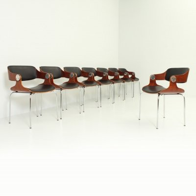 Set of Eight Chairs by Eugene Schmidt