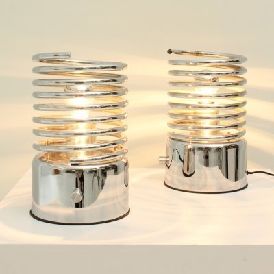 Pair of Spiral Table Lamps, 1970's