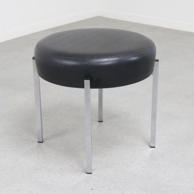 Minimalist stool or footstool by Rugé, 1960s