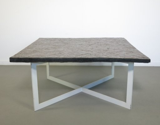 Coffee table with heavy slate top, 1960's