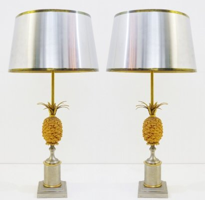 Pair Of Pineapple Lamps, 1970s