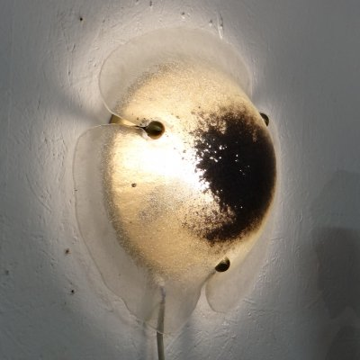 Frosted glass eye wall lamp, 1960s