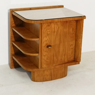 Walnut art deco night stand