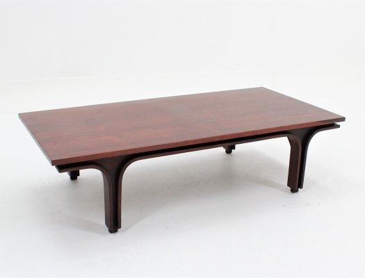 Italian rosewood coffee table by Gianfranco Frattini for Bernini, 1960s
