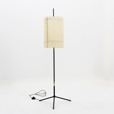 Italian tripod cocoon floor lamp by Stilnovo, 1950s