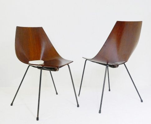 Pair of Italian chairs by Carlo Ratti, 1960s