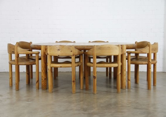 Dining set by Rainer Daumiller for Hirtshal Sawmill, 1970s