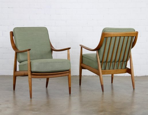 2 x arm chair by Peter Hvidt & Orla Mølgaard Nielsen for France & Daverkosen, 1950s