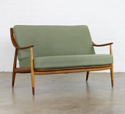 FD 144 sofa by Peter Hvidt & Orla Mølgaard Nielsen for France & Daverkosen, 1950s